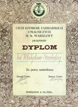 Dyplom Władysławy Strzeleckiej