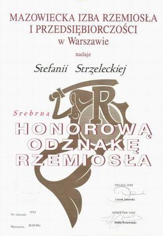 Srebrna Odznaka Stefanii Strzeleckiej